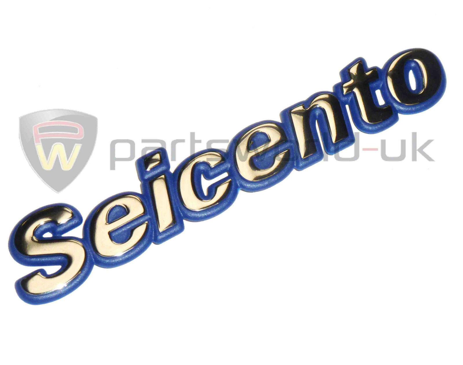 Genuine New FIAT SEICENTO 2TONE REAR DECAL Stemma 1998-2002 Models LE SE