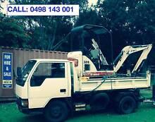 Mini Excavator and Tipper Hire Gold Coast $80 per hour Coomera Gold Coast North Preview