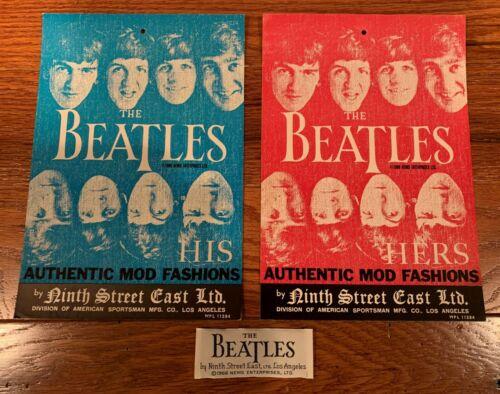 Original 1966 Beatles Clothing Hang Tag (His & Hers) & Collar Label free ship