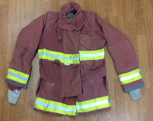 Firefighter Red Bunker Turnout Jacket 38 x 32 Quest