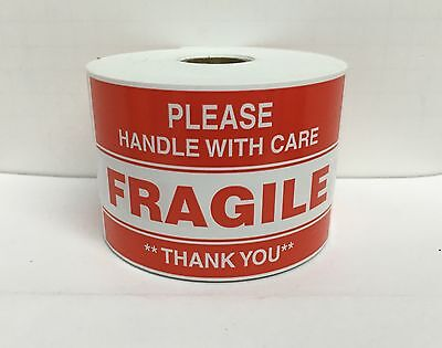 Please FRAGILE Labels Handle Care Warning Shipping Mailing (300/RL, (Fragile Please Handle)