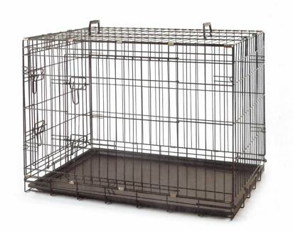 30in Medium Collapsible Metal Pet Dog Puppy Cage Crate * ED622