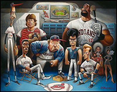 """A Tribute to Major League Giclée Print 22"""" by 28"""" By Artist David O'keefe"""