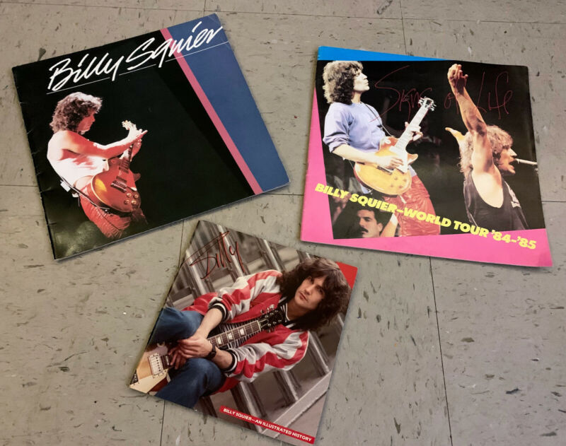 Billy Squire concert tour books from 1980