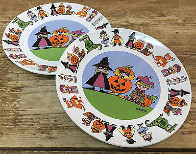 Signature Halloween Costumes (2 Salad Plates Halloween Goblins Trick Treat Costumes Ursula Dodge Signature)