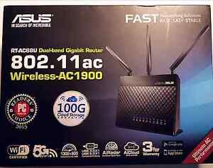 ASUS RT-AC68U Wireless Router AC 1900 mbps Greystanes Parramatta Area Preview