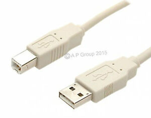 1m-USB-A-to-B-Printer-Cable-Beige-for-Epson-HP-Canon-Brother-Lexmark-Inkjet-NEW