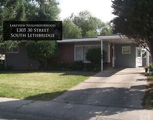 For Rent: 3 Bedroom Main Floor Suite (1305 30 Street S)
