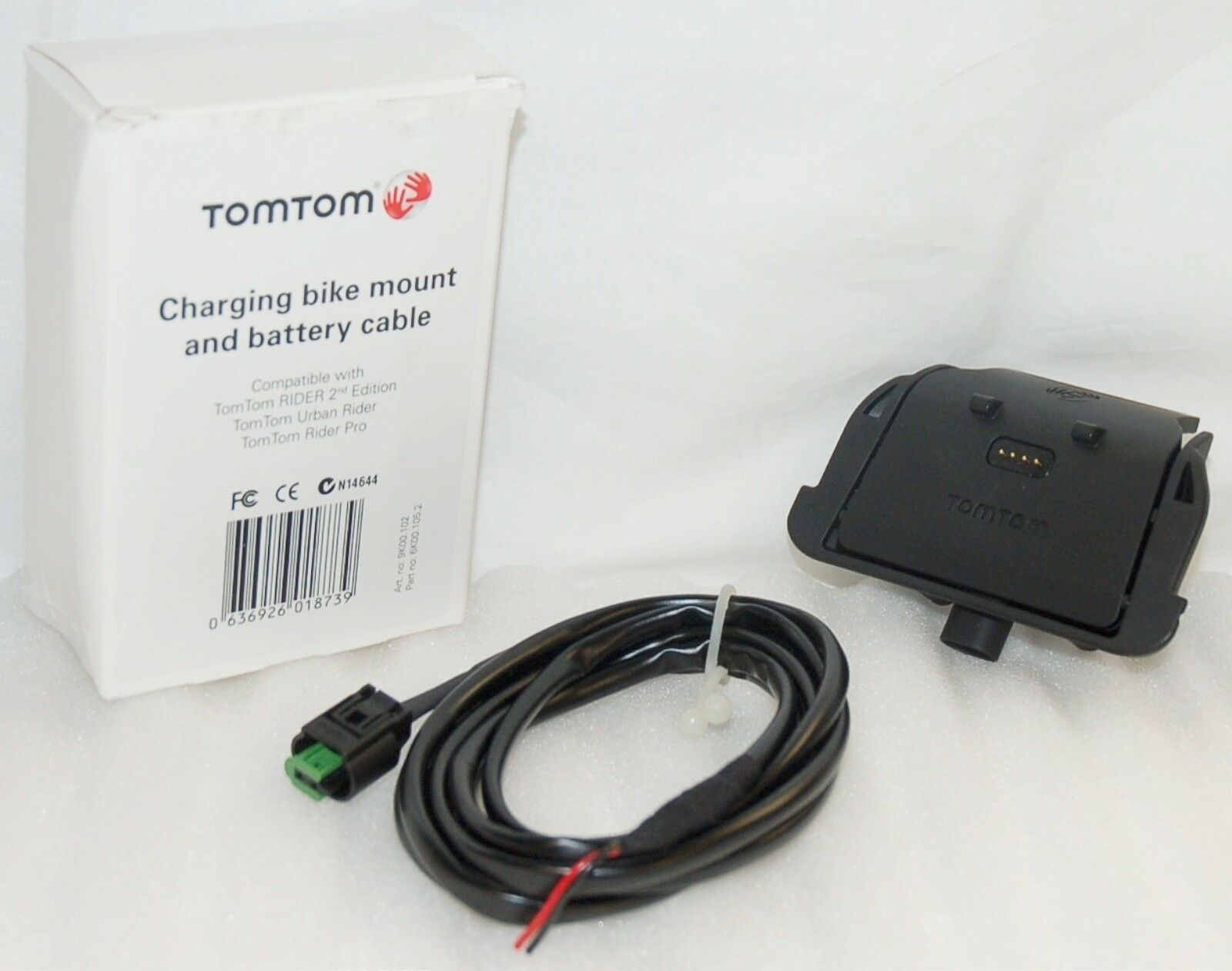 New Tomtom Rider 2 Motorcycle Dock Mount Cable 2nd Edition Bike