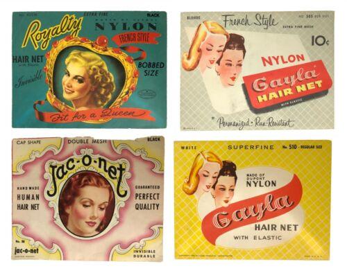 Lot 4 Vintage NEW Gayla Jac-o-Net 1930s 1940s Women