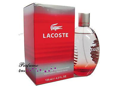 LACOSTE STYLE IN PLAY RED 4.2 oz EDT EAU DE TOILETTE for Men NEW IN BOX