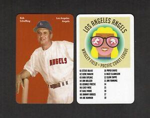 BOB SCHEFFING, Los Angeles Angels   PCL FIRST PRINTING card   Carl Aldana 2018