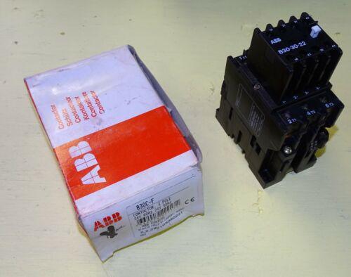 New ABB control Contactor, 3-pole, 24 volt AC coil, B30, B30C-F, B30-30-22