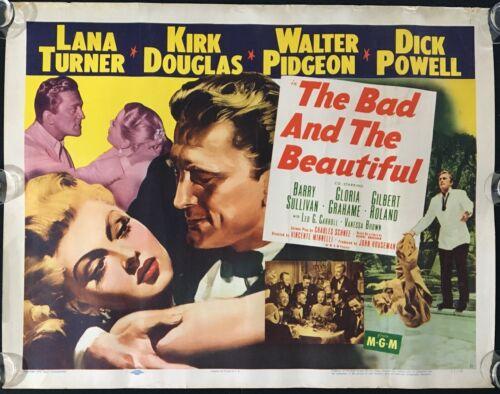 Bad and the Beautiful ORIGINAL US HALF SHEET MOVIE POSTER Lana Turner 1952