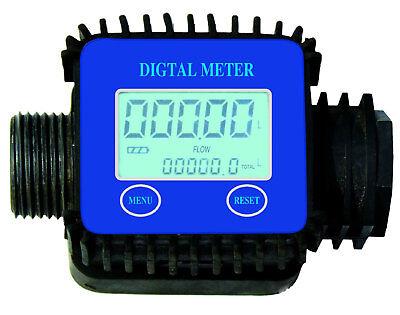 Digital Electronic Flow Meter Diesel Water Oil Fluid Liquid LCD Display Gauge