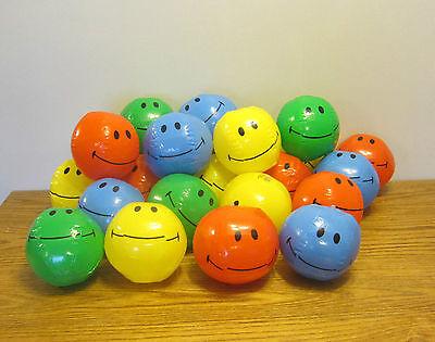 5 NEW MINI SMILE FACE BEACH BALLS 7