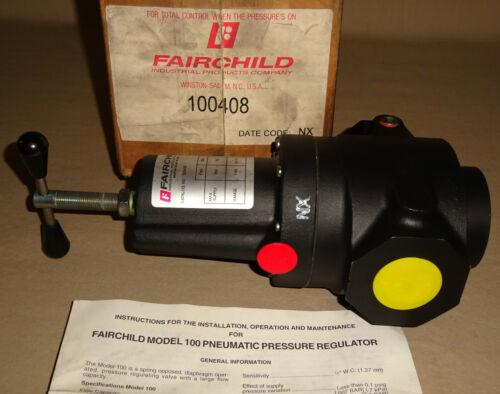 """Fairchild 100408 Pressure Regulator Pneumatic 1"""" NPT High Flow NEW"""