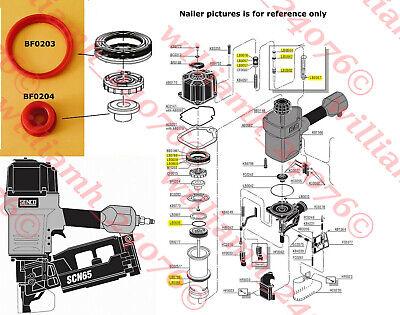 Senco Scn65 Scn60 Framing Nailer O-ring Plus Seals Bf0203 And Bf0204 Parts Kit