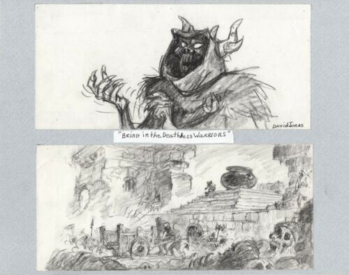 Black Cauldron 1985 Horned King Walt Disney Prod Double Animation Storyboard s