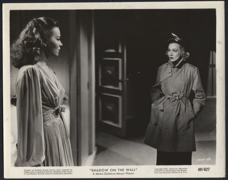 Shadow On The Wall '49 KRISTINE MILLER ANN SOTHERN RARE