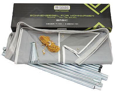 Wohnwagen Sonnenvordach Sonnendach Sonnensegel - BASIC - Breite 500cm x 240cm