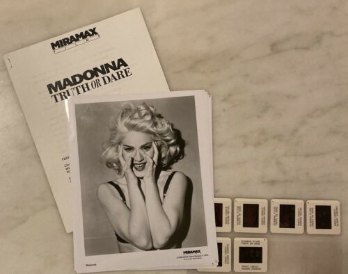 MADONNA TRUTH OR DARE (1991) Original Press Kit, Photos, Color Slides; RARE