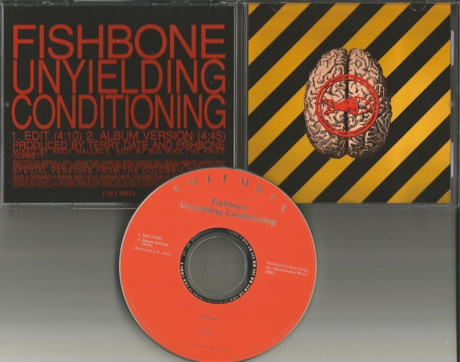 FISHBONE Unyielding Love w/ RARE EDIT PROMO DJ CD single w/ TOUR DATES 1993 MINT