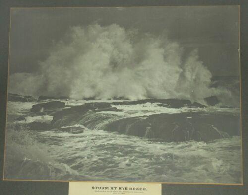 SS PORTLAND STEAMER SHIP SHIPWRECK STORM PHOTOGRAPH RYE BEACH 1898 ORIGINAL