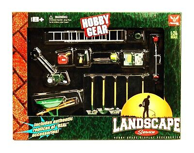 Phoenix Garage Diorama Accessory Set - Hobby Gear Landscape Service(1/24 Scale) - Hobby Gear