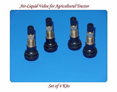 4 KITS TR618 Snap-in Air Liquid Tractor Tire Valve For Lawn Garden-Tractor Wheel