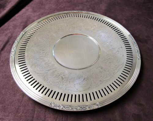 CORONATION 1936 Reticulated Cake Serving Plate Chased Surface Hard to Find