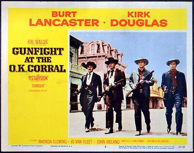 GUNFIGHT AT THE OK CORRAL 1957 Kirk Douglas, Burt Lancaster LOBBY CARD #5