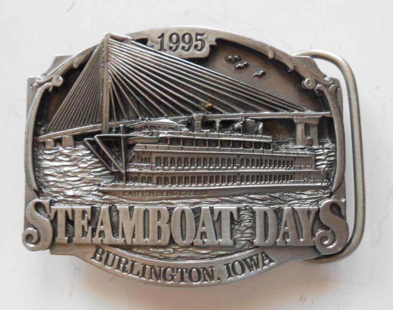 1995 Burlington, Iowa Steamboat Days Belt Buckle