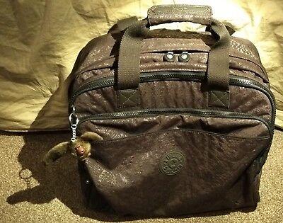 Kipling New CEROC Work Life Business Laptop Travel Luggage Brown Snake A++