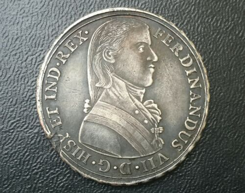 1808 Lima Peru Ferdinand VII Proclamation Silver Medal