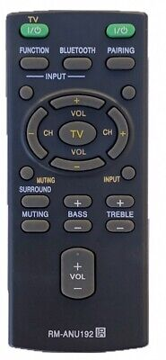 New Remote Control RM-ANU192 for Sony Sound Bar HT-CT60 HT-