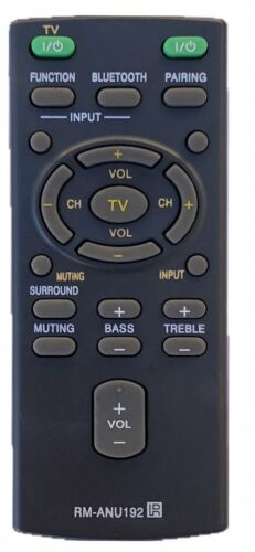 New Remote Control Rm-anu192 For Sony Sound Bar Ht-ct60 Ht-ct60bt Sa-ct60