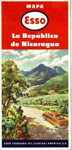 1950 Esso Road Map: Nicaragua NOS