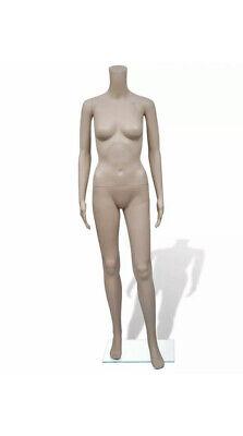 Headless Female Mannequin Heavy Duty Plastic New