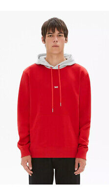 Rare Helmut Lang Taxi Red Hoodie S MSRP $255.00