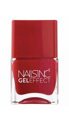 Nails Inc Gel Effect St James Red Nail Polish Varnish Brand New 14ml
