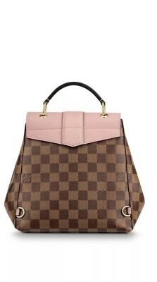 NEW LOUIS VUITTON CLAPTON MINI DAMIER EBENE PINK BROWN BACKPACK/HANDBAG