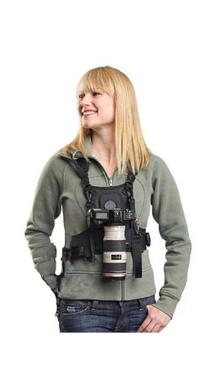 Carrier Single 1 Camera Carrying Chest Harness System Vest Quick Strap DSLR