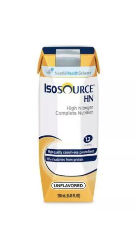 Isosource HN Complete Liquid Formula High Nitrogen 250 ml Unflavored Lot Of 24