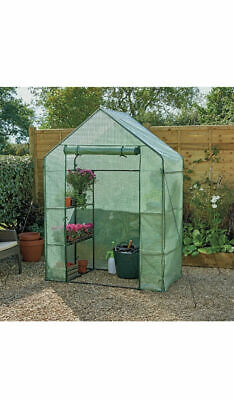 McGregor Walk In Greenhouse with 4 Shelves and Steel Frame