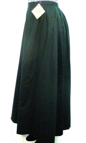 Ladies Victorian Old West style walking skirt BLACK Sizes Small to 3XLarge