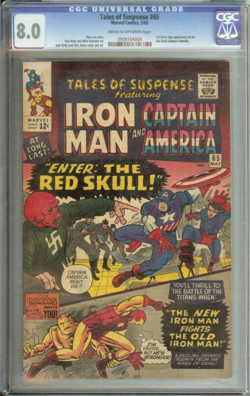 TALES OF SUSPENSE #65 CGC 8.0 CR/OW PAGES