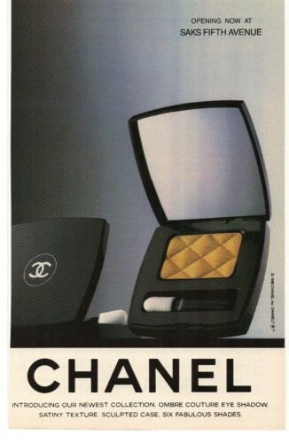 1988 Chanel Ombre Couture Eye Shadow Advertisement