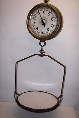 antique Jacobs Bros Co NY hanging Country store Grocery scale porcelain tray