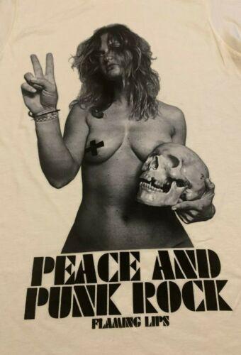 Original FLAMING LIPS Peace & Punk Rock vtg tour concert shirt S NEW/UNWORN!